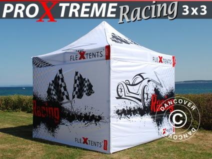 Faltzelt Faltpavillon Wasserdicht FleXtents PRO Xtreme Racing 3x3m, limitierter Auflage