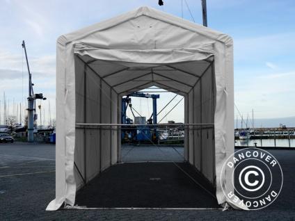 BootszeltZeltgarage Garagenzelt PRO XL 3, 5x8x3, 3x3, 94m, PVC, Weiß - Vorschau 3