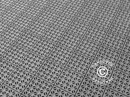 Kunstoffboden, Basic, Multiplate, Grau, 1, 23 m² (4 Stk)