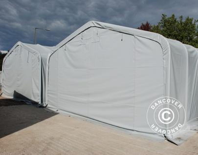Zeltgarage Garagenzelt PRO 7x14x3, 8m PVC, Grau - Vorschau 2