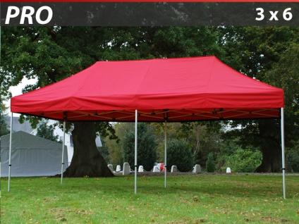 Faltzelt Faltpavillon Wasserdicht FleXtents PRO 3x6m Rot
