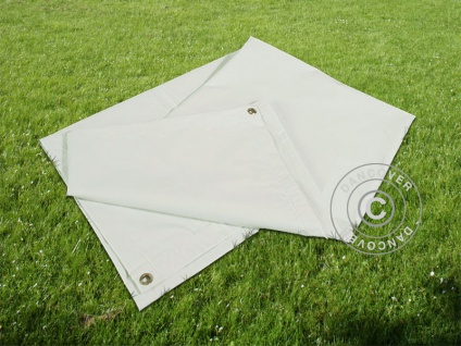 Plane Abdeckplane/Bodenplane Abdeckplane, 4, 5x6, 5m PVC, Grau - Vorschau 3