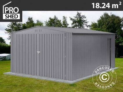 Metallgarage 3, 8x4, 8x2, 32m ProShed®, Aluminium Grau