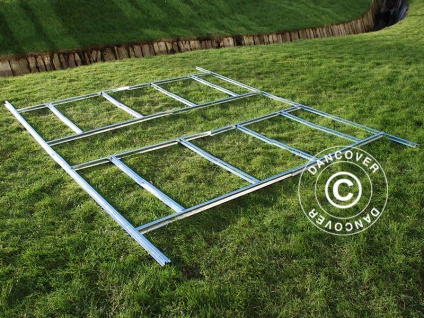 Bodenrahmen für Geräteschuppen Metallgerätehaus, ProShed®, 3, 4x3, 82 m