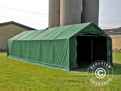 Zeltgarage Garagenzelt PRO 5x10x2x2, 9m, PVC, Grün - Vorschau 2