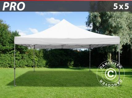 Faltzelt Faltpavillon Wasserdicht FleXtents PRO 5x5m Weiß