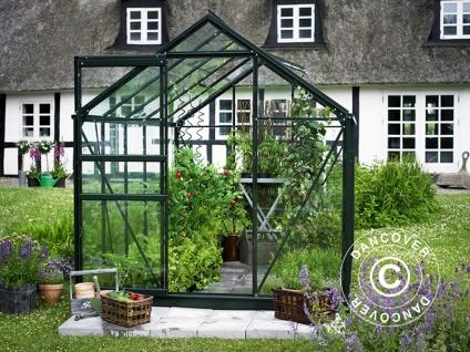 Gewächshaus Glas Halls Popular 6, 2m², 1, 93x3, 19x1, 95m, Grün