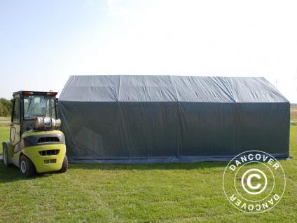 Zeltgarage Garagenzelt PRO 4x8x2x3, 1m, PVC, Grau - Vorschau 4