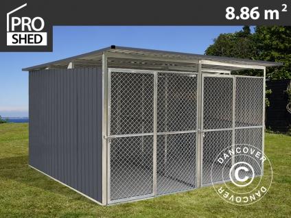 Hundezwinger 3, 22x2, 75x1, 86m ProShed®, Anthrazit