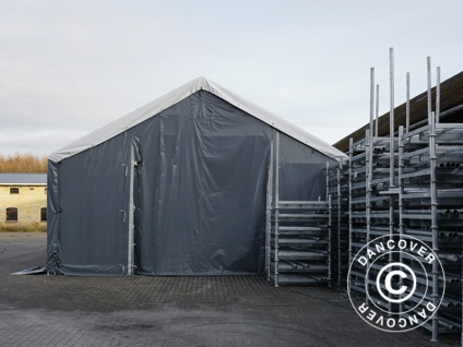 Zelthalle Titanium 6x6x3, 5x5, 5m, Weiß / Grau - Vorschau 2