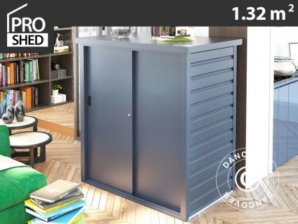 Geräteschuppen Metallgerätehaus/Metallschrank mit Schiebetür 1, 65x0, 8x1, 31m, ProShed®, anthrazit