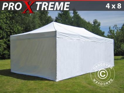 Faltzelt FleXtents Xtreme 4x8m Weiß, mit 6 wänden