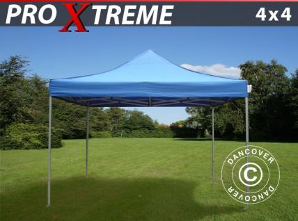 Faltzelt Faltpavillon Wasserdicht FleXtents Xtreme 4x4m Blau