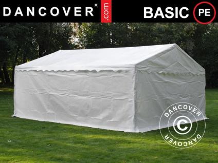Lagerzelt Zeltgarage Garagenzelt-Basic 2-in-1, 5x6m PE, weiß