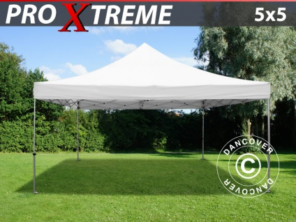 Faltzelt Faltpavillon Wasserdicht FleXtents Xtreme 5x5m Weiß