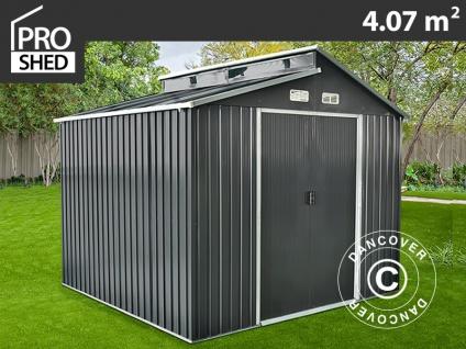 Geräteschuppen Metallgerätehaus mit Dachfenster 2, 35x1, 73x2, 25m ProShed®, Anthrazit