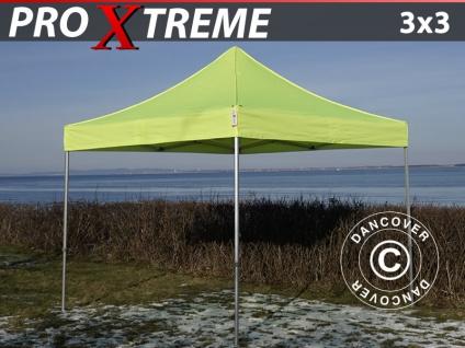 Faltzelt Faltpavillon Wasserdicht FleXtents Xtreme 3x3m Neongelb/Grün