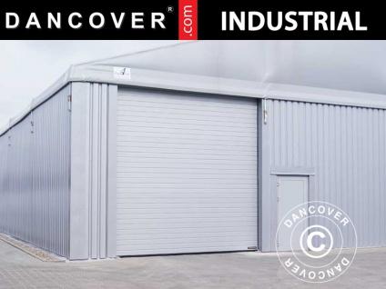 Schiebetor für industrielle Lagerhalle Steel, 4, 7x3, 5m, Metall, grau
