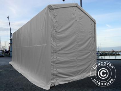BootszeltZeltgarage Garagenzelt PRO XL 3, 5x8x3, 3x3, 94m, PVC, Weiß - Vorschau 5