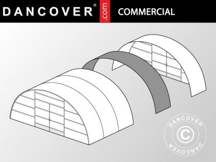 Kommerzielles Tunnel-Gewächshaus Erweiterung, 10x1, 5x3, 7m, transparent