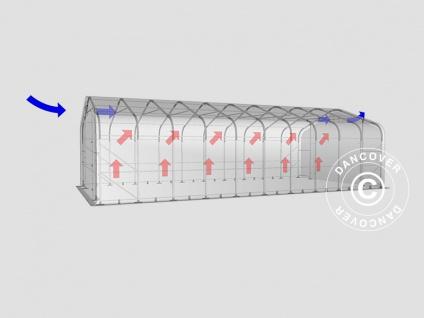 Zeltgarage Garagenzelt PRO 6x12x3, 7m PVC, Grau - Vorschau 3