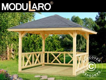 Holzpavillon, 3x3x3, 23m, 9m², Natur