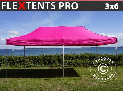 Faltzelt Faltpavillon Wasserdicht FleXtents PRO 3x6m Rosa