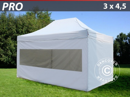 Faltzelt FleXtents PRO 3x4, 5m Weiß, mit 4 wänden