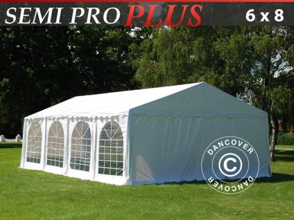 Partyzelt festzelt SEMI PRO Plus 6x8m PVC, Weiß