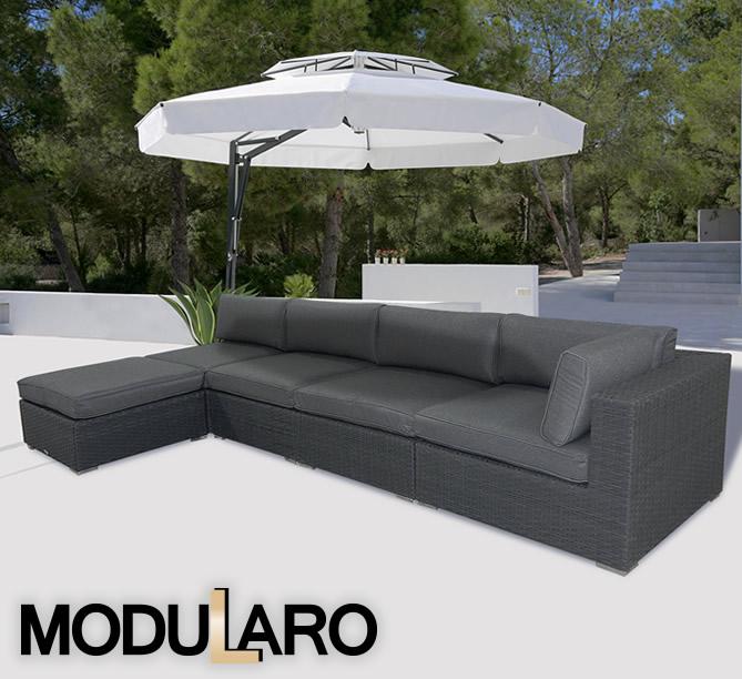 Polyrattan Lounge Sofa Polyrattan Gartenmobel Ii 5 Module Modularo