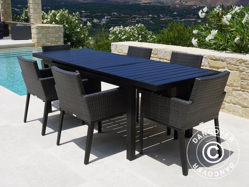 Gartenmobel Set Polyrattan Gartenmobel Miami 1 Tisch 6 Stuhle