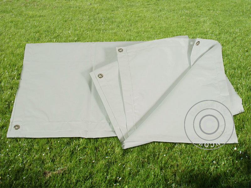 Plane Abdeckplane Gewebeplane Bodenplane 3, 8x6, 1m PVC, PVC, PVC, Grau 001f5b