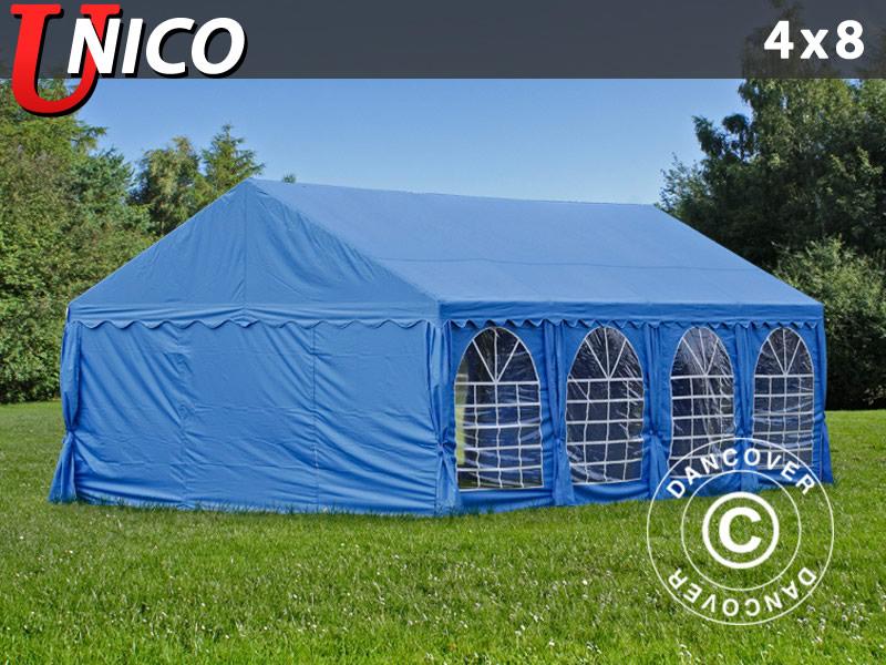 Partyzelt Festzelt UNICO 4x8m, Blau