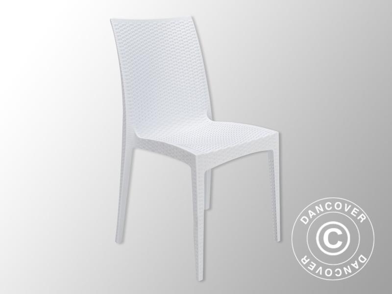 Stuhl Rattan Bistrot Weiß 6 Stück Kaufen Bei Dancover A S