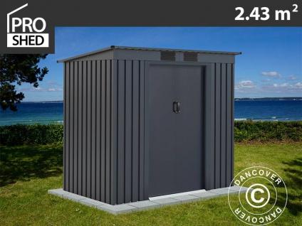 Geräteschuppen Metallgerätehaus mit Flachdach 2, 01x1, 21x1, 76m ProShed®, Anthrazit