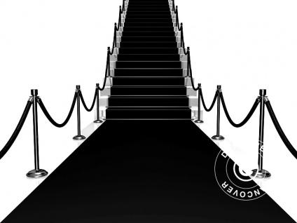 Schwarzer Teppich, 1, 25x8m, 400g