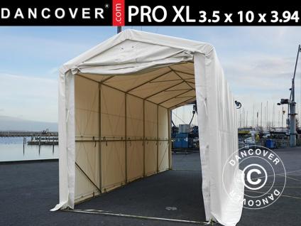 Lagerzelt PRO XL Bootszelt Zeltgarage Garagenzelt PRO XL 3, 5x10x3, 3x3, 94m, PVC, Weiß