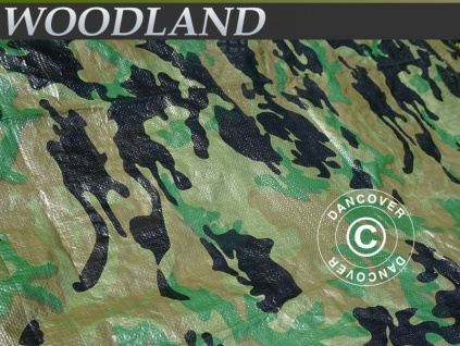 Camouflage-Plane Abdeckplane Woodland 5x6m, 120g/m²