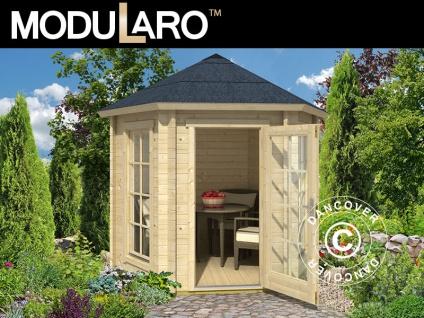 Holzpavillon Lausanne, sechskantig 2, 8x2, 42x2, 89m, 44mm, Naturbelassen