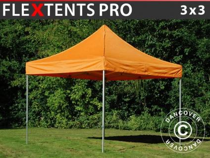 Faltzelt Faltpavillon Wasserdicht FleXtents PRO 3x3m Orange
