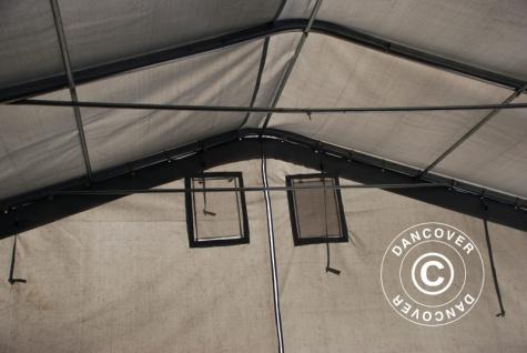 Zeltgarage Garagenzelt PRO 7x14x3, 8m PVC, Grau - Vorschau 5