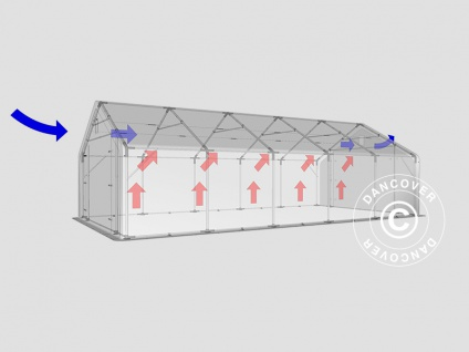 Zeltgarage Garagenzelt PRO 5x10x2x2, 9m, PVC, Grün - Vorschau 4