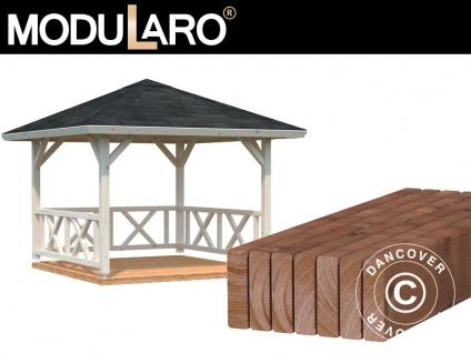 Holzpavillon mit Holzboden, 3x3x3, 23m, 9m², Natur