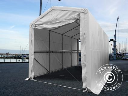 BootszeltZeltgarage Garagenzelt PRO XL 3, 5x8x3, 3x3, 94m, PVC, Weiß - Vorschau 2