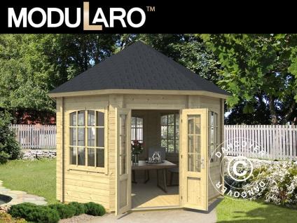 Holzpavillon Lorraine, achtkantig 3, 47x3, 47x3, 45m, 44mm, Naturbelassen