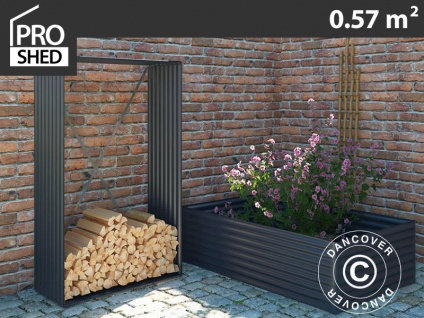Holzlager/erhöhtes Pflanzbeet 1, 10x0, 52x1, 80m ProShed®, Anthrazit