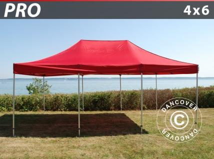 Faltzelt Faltpavillon Wasserdicht FleXtents PRO 4x6m Rot