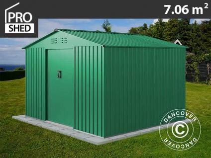 Geräteschuppen Metallgerätehaus 2, 77x2, 55x1, 92m ProShed®, Grün