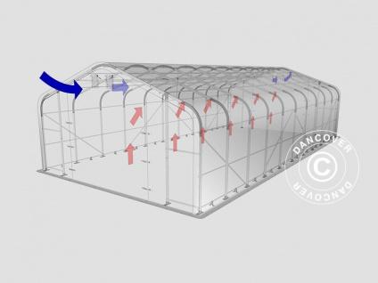Zeltgarage Garagenzelt PRO 7x14x3, 8m PVC, Grau - Vorschau 3