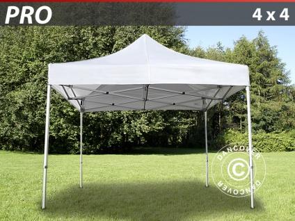 Faltzelt Faltpavillon Wasserdicht FleXtents PRO 4x4m Weiß